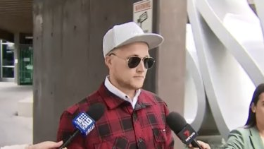 Trent Thorburn leaves a Brisbane Court after testifying to the coronial inquest into Tiahleigh Palmer's death.