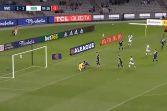 Victor Sanchez's last-second winner for  Western United against Melbourne Victory in the A-League 28/2/2021.