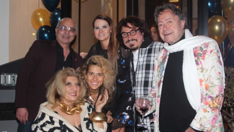 (L-R) Geniale founder Dr Mike Shenouda, Maria Venuti, Bianca Venuti, Kylie Beaufoy, John Azzi and Charles Billich at the launch of Geniale's cosmetic centre in Drummoyne on Tuesday.
