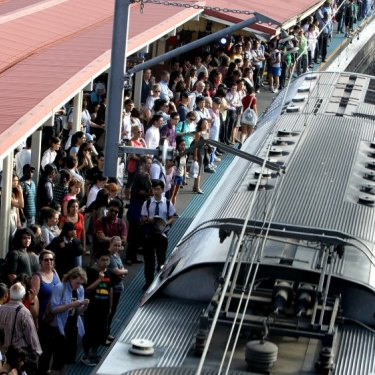 The crush: Redfern is Sydney's sixth busiest station.