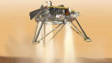 InSight fires its engines for landing.