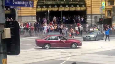 "James Gargasoulas did ""doughnuts"" outside Flinders Street Station minutes before he murdered six people in Bourke Street."