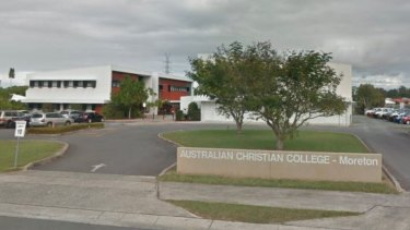 Australian Christian College - Moreton where six children were hit by a car on Wednesday afternoon.