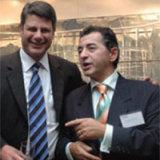 Former Victorian premier Steve Bracks and George Stamas in 2007.