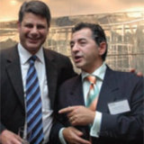 Former Victorian premier Steve Bracks and George Stamas in 2007.