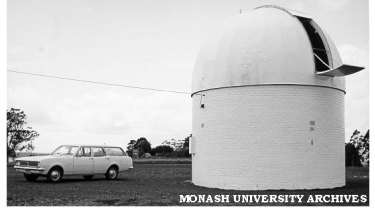 Mountain Burnett Observatory, pictured in a Monash University archival shot.