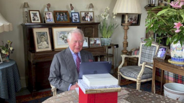 Prince Charles opens the NHS Nightingale hospital in London via video link from his residence in Birkhall, Scotland. Prince Charles spent seven days self-isolating after contracting a mild case of COVID-19.