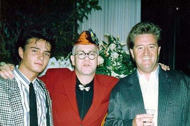Life of glamour ... Alexandre Despallieres, left, with Elton John and Peter Ikin. Ikin had worked with John.