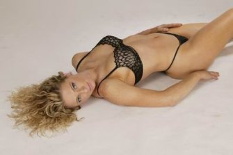 Robyn Lindholm in her stripping days.