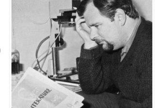 Melbourne editor John Bangsund on September 21, 1968, in Sassafras.