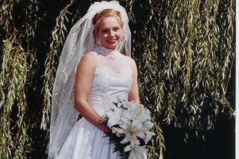 Michelle Skewes on her wedding day to Jon Seccull. They were together for 16 years.
