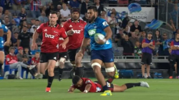 Blues buckle in crunch moments but push Crusaders all the way
