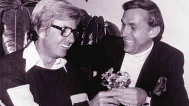 A failed reconciliation between Rogers and Laws, who presented his foe with a posy of flowers in 1977.