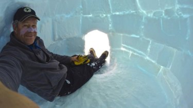David Wood was a helicopter pilot in Antarctica when he fell down a crevasse on a refueling mission and died.