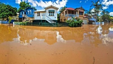 Flood-prone regions: The January 2011 floods in Brisbane.