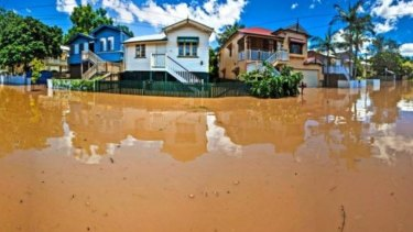 Flood-prone regions: The January 2011 floods in Brisbane.