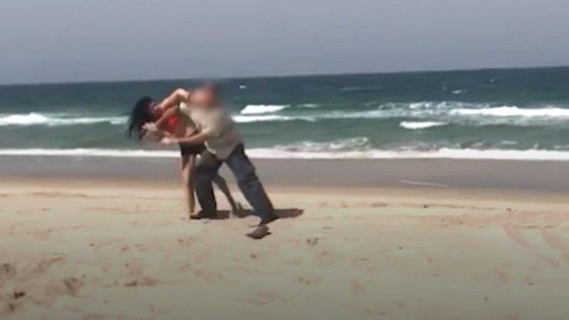 Bikini-clad woman attacks ranger after friend climbs WWII relic