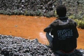 Pollution near the Panguna mine.
