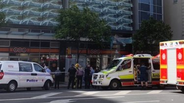 The woman fell fromAurora Tower on Queen Street on Sunday.