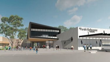 Artist's impression of the proposed Perth Holocaust Museum.