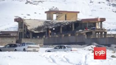 Adamaged building on Monday after a militant assault on a training centre in Wardak Province run by the Afghan intelligence agency.
