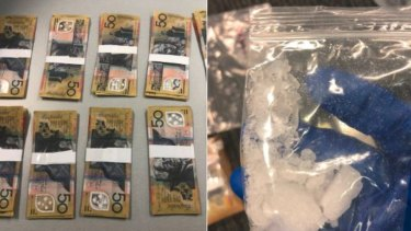 A Gold Coast man has been charged after a raid found thousands of dollars worth of ice and counterfeit cash.