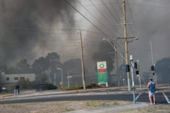 The Seaford fires have led to power cuts and thick smoke.