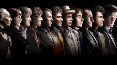 At a time when there were just 11 Doctors, actor Sylvester McCoy, seventh from the left.
