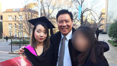Tiffany Wan on the left with her father Ah Ping Ban, who was found guilty of Annabelle Chen's murder.
