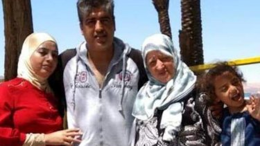 Christchurch mosque attack victim Kamel Darwish, pictured with wife Rana (left), mother Suad Adwan, and six-year-old daughter Leen.