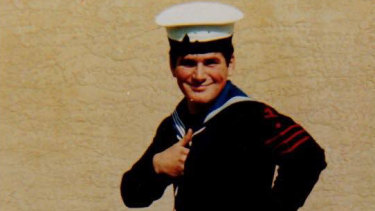 Navy diver George at 17.