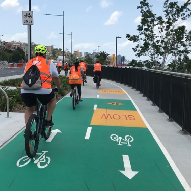 Segregated cycleways through Brisbane have been popular for recreation and commuting.