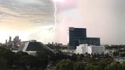 Perth mops up after hail, heavy rainfall hits the city in peak hour