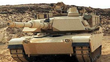 A US M1A2 Abrams tank.