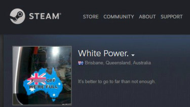 Games platform Steam has been criticised for allowing racist content, against its own rules.