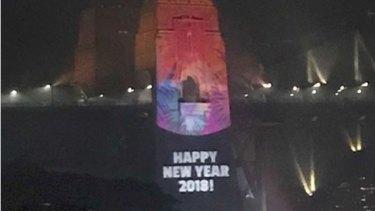 The typo on the pylon last night,