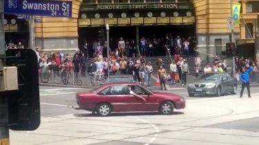 """James Gargasoulas did """"doughnuts"""" outside Flinders Street Station minutes before he murdered six people in Bourke Street."""
