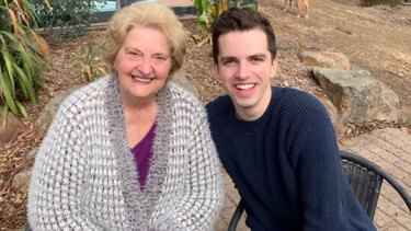McKenna with his grandmother, former opera singer Gheda Fitzmaurice.