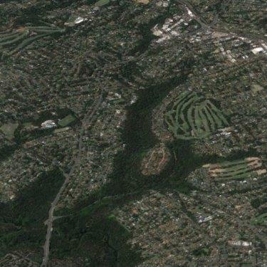 From the north, Avondale, Gordon and Killara golf courses.