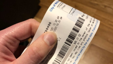 The $99 parking fine for Dr Katarina Arandjelovic.