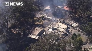Binna Burra lodge has been gutted by out-of-control bushfires.