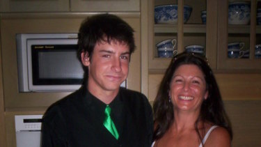 Julie Luezzia with her son Paul.