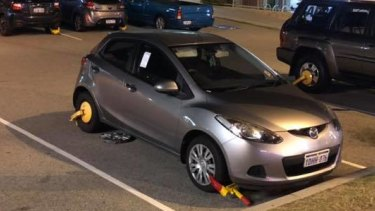 Up to five cars had their front and back wheels clamped in Scarborough on the first night of its summer twilight markets.