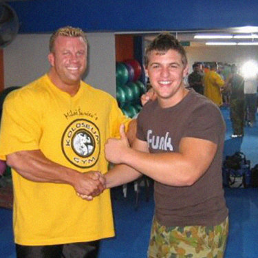 When he was 16, Blatch (right) briefly met bodybuilder Luke Wood at a weight-training talk.
