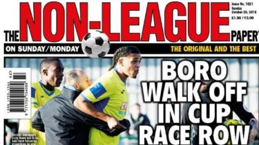 Non-league paper reports racial discrimination in theFA Cup tie betweenHaringey Borough and Yeovil Town. Twitter