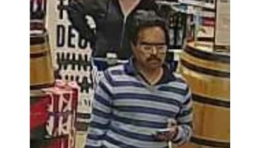 The CCTV image that appeared in the Victoria Police Facebook post.