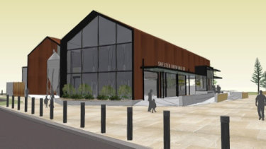 An artist's impression of the new brewery across from the Busselton Jetty that should open next year.