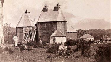 Hop kilns at the Coranderrk reserve near Healesville.