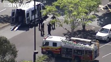 Emergency services, including the bomb squad, swarmed the Brothers Leagues Club car park in Raceview, Ipswich.