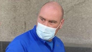 Former Brisbane teacher Lucas John Gill leaves Brisbane Watchhouse on Wednesday.